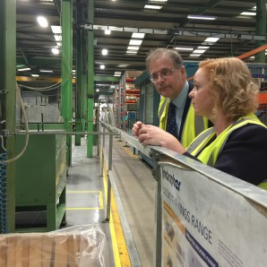 Judith visits local business &  international success story