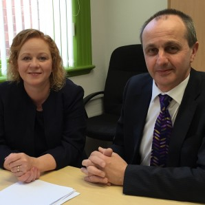 Judith discusses the future of Bradford's schools with Sir Nick Weller
