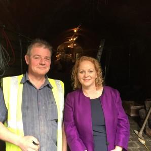 MP tours Sunbridge tunnels scheme