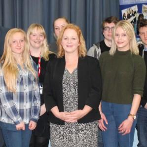 Bradford South MP Judith Cummins attends Queensbury School' careers workshop