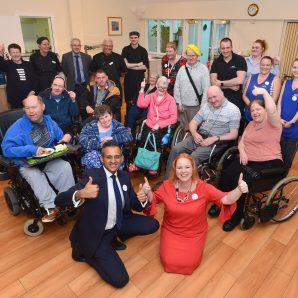 """""""It's all about equality"""": Judith opens dining room at supported living scheme"""