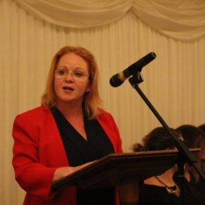 Judith speaks at Rugby League dinner