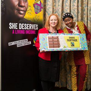 Judith backs Fairtrade campaign for cocoa farmers