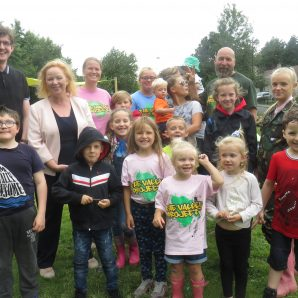 Showing support for adventure playground created by charity group in Holme Wood